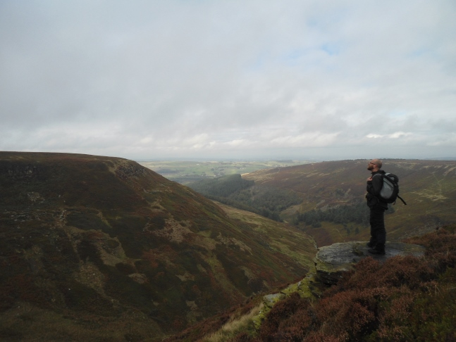 The views of Ramsden Clough were the highlight of the walk