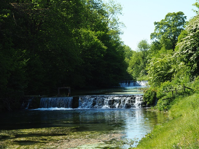 A series of small weirs on the River Lathkill