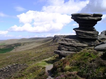 The Salt Cellar backed by Derwent Edge