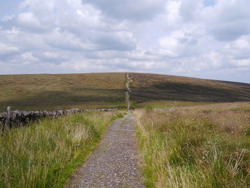 The path leading up on to Shining Tor