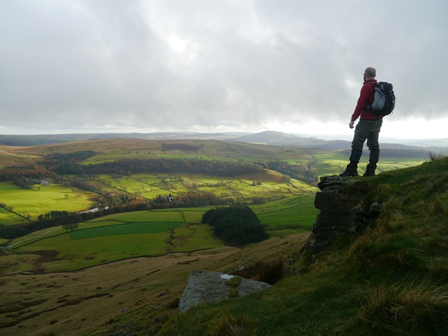 Posing on one of the summit outcrops