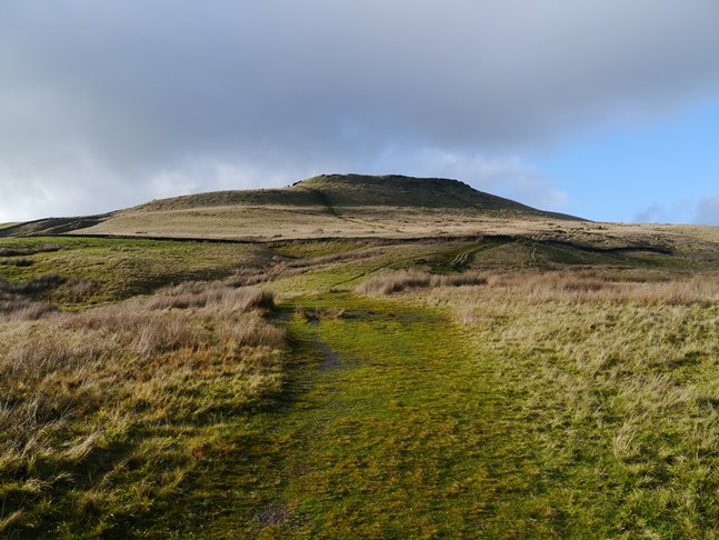 Looking back up at Shutlingsloe