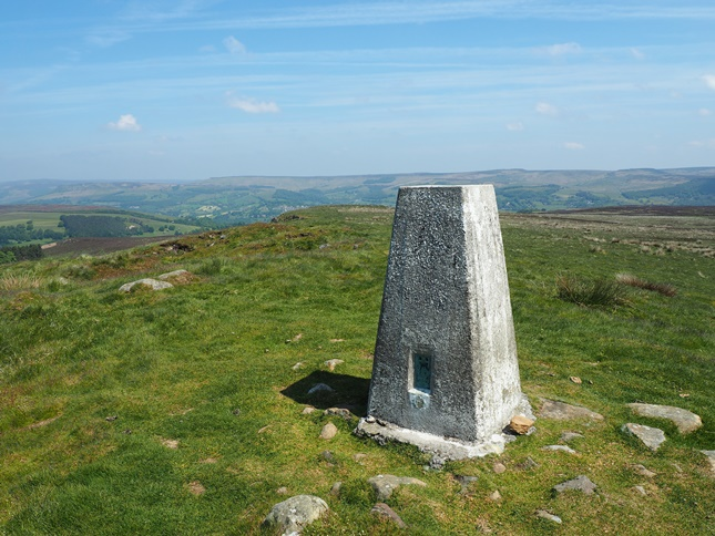 The trig point on Sir William Hill