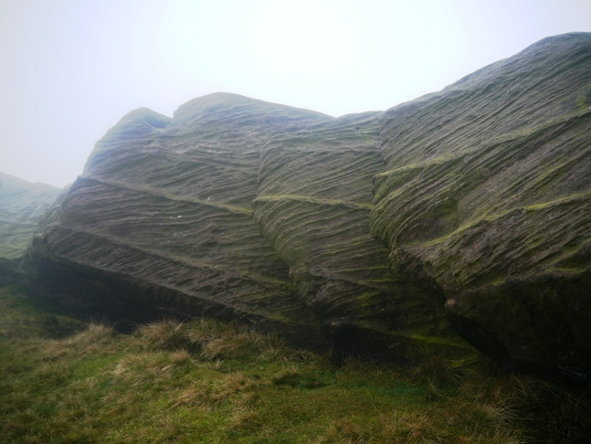 I loved the horizontal and diagonal lines on these gritstone boulders