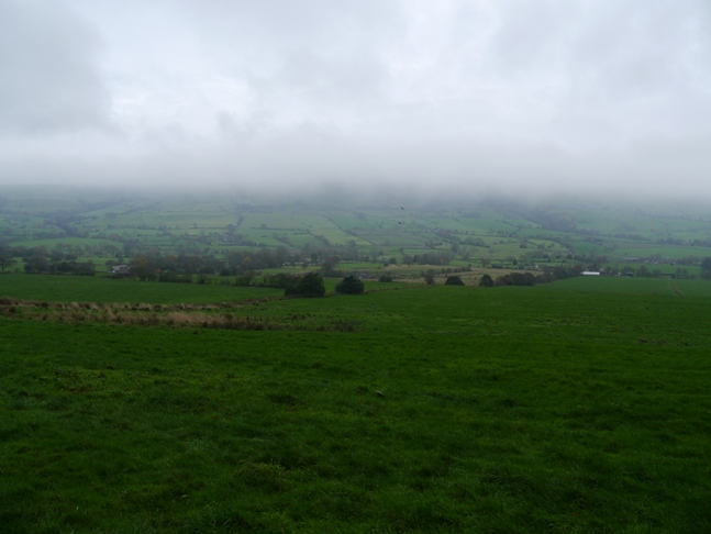 Low cloud completely obscured the Roaches
