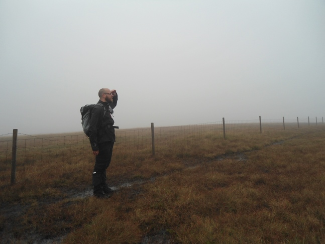 Thanks to the hill fog there wasn't much to see from the top of Britland Edge Hill