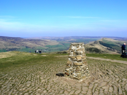 The top of Mam Tor looking down to the Great Ridge