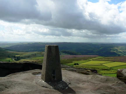 The trig on the south end of Stanage Edge