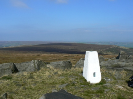 The whiter than white trig on West Nab