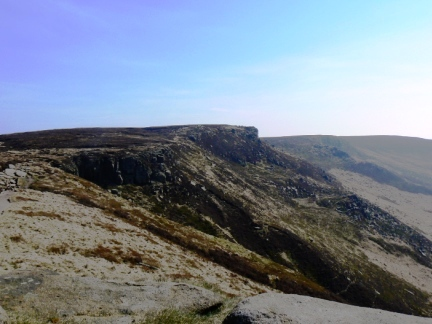 Looking along the southern Kinder edges to Upper Tor