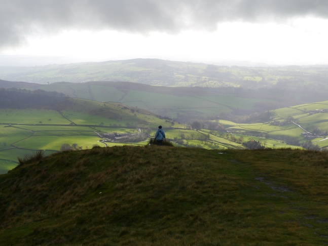 Another walker enjoying the view from Shutlingsloe