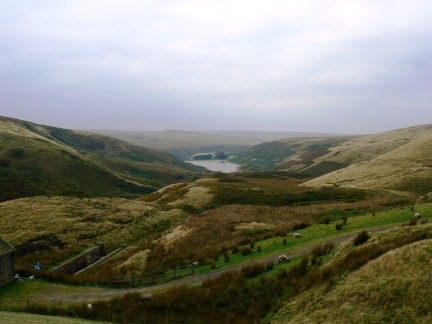 Wessenden Valley from the dam of Wessenden Head Reservoir