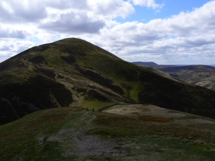 Looking back at Carnethy Hill