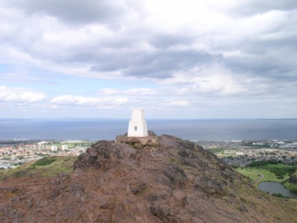 The top of Arthur's Seat