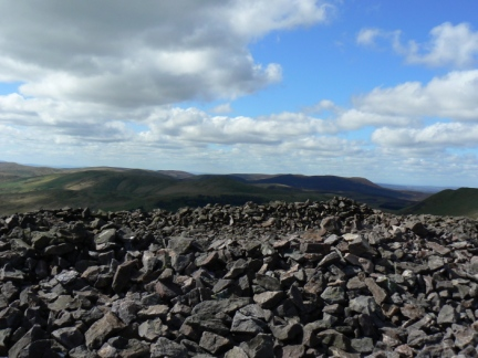 The large cairn on the top of South Black Hill