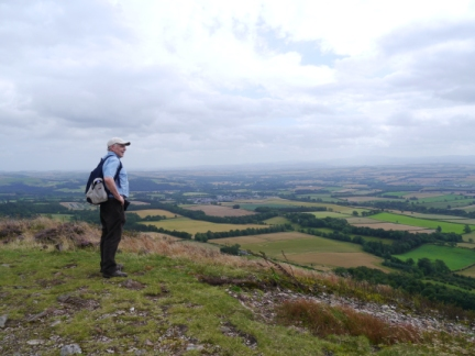 David enjoying the view south from Wester Hill