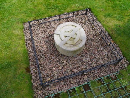 Stone marking the burial place of Robert the Bruce's heart