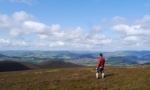 Looking towards the Pentlands from Stob Law