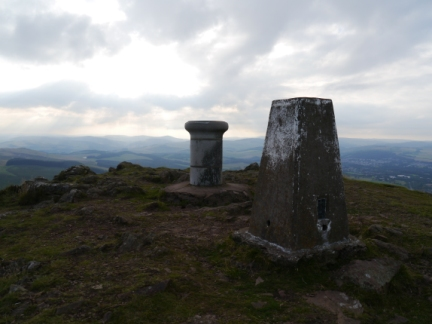 The top of Eildon Mid Hill
