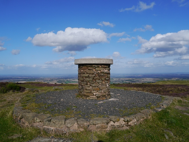 The top of Brown Clee Hill - the highest of the Shropshire Hills