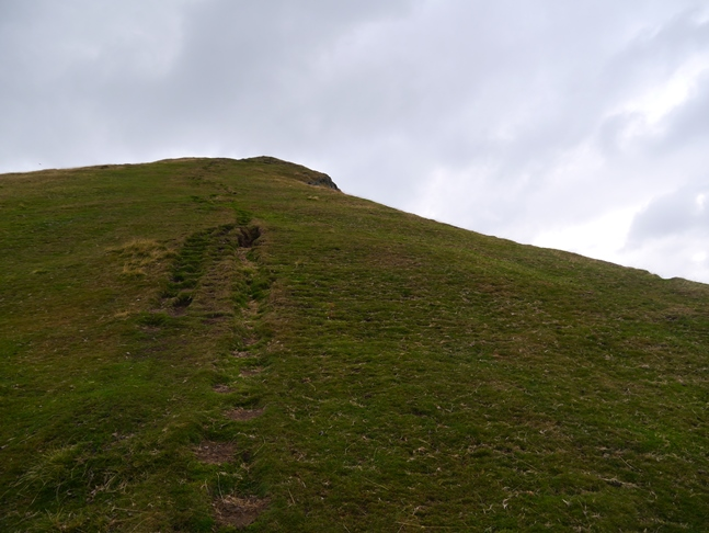 The steep climb on to Caer Caradoc