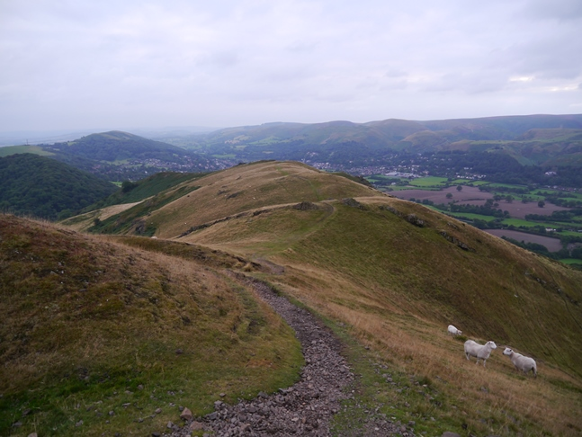 Descending Caer Caradoc towards Three Fingers Rock
