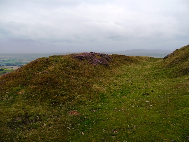 Remains of the ditch and rampart of the fort on Caer Caradoc