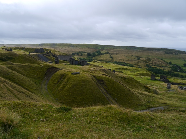 Looking across one of the many quarries towards Hoar Edge