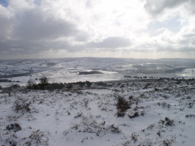 The Long Mynd in winter