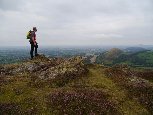 Looking north-east from Caer Caradoc