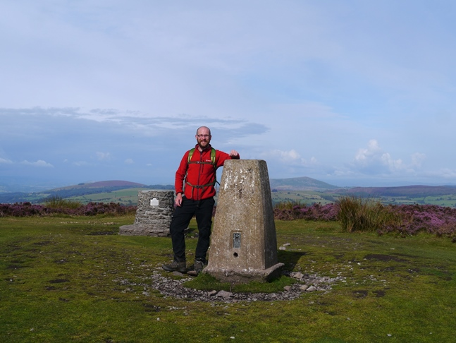 By the trig point on Pole Bank