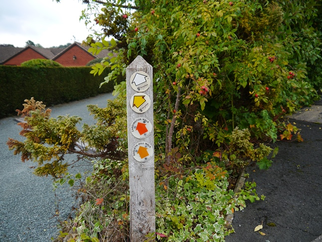 I followed the waymarked Ragleth Hill Walk, one of a number of waymarked walks from Church Stretton