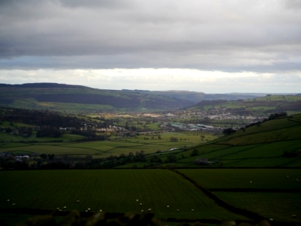 Looking down Airedale towards Steeton