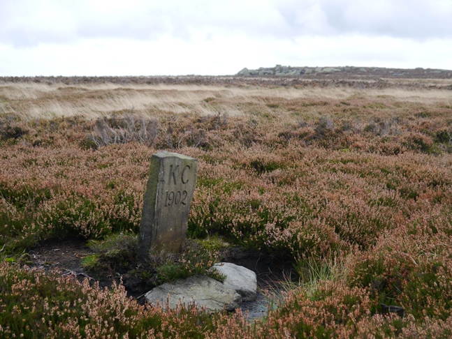 Boundary stone below the Alcomden Stones