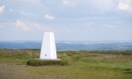 The trig point on Baildon Hill