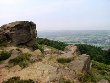 The summit rocks of The Chevin