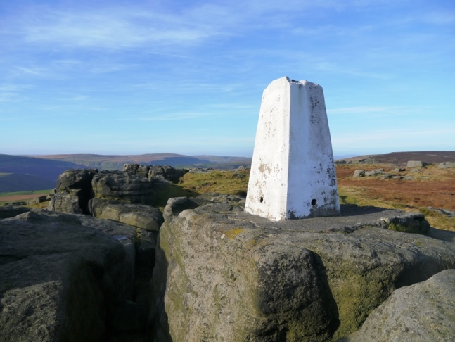 The Great Bride Stones trig point