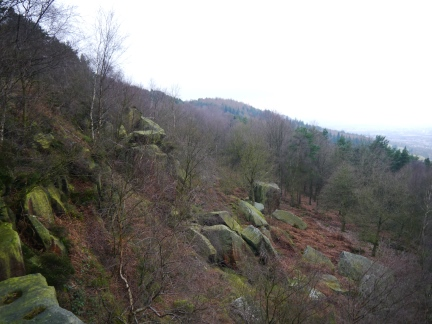 The tumbled boulders of Caley Crags