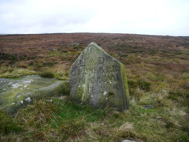 The boundary stone called the Lad on Crow Hill or the Scarr on Crow Hill