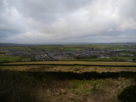 Earby from near the bottom of Bleara Moor