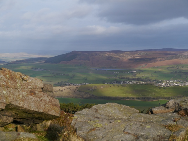 Embsay and Embsay Moor from the top of Skipton Moor