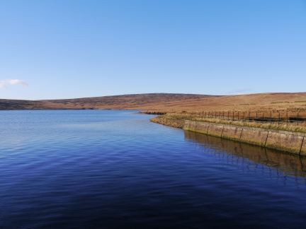 Green Withens Reservoir and Blackstone Edge