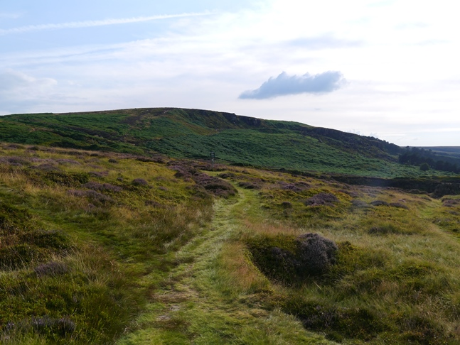 The path heading for Ilkley Crags