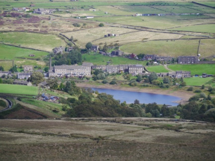 A zoom shot of Leeming Reservoir