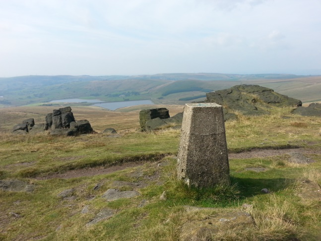 The trig point above Millstone Edge