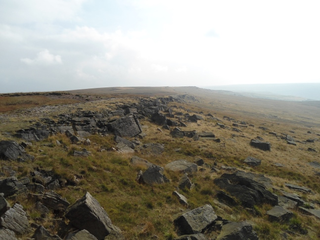 The view towards Millstone Edge from Northern Rotcher