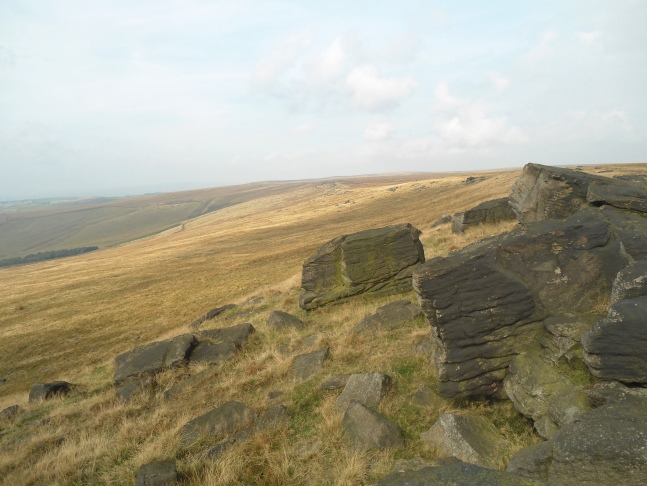 Gritstone outcrops on Millstone Edge