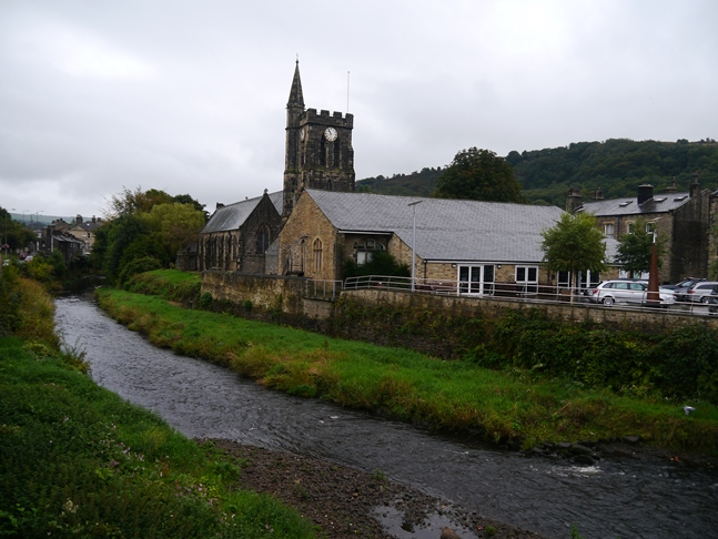 St Michael's Church above the River Calder in Mytholmroyd