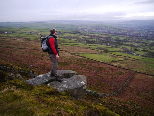 Standing on a cloven outcrop