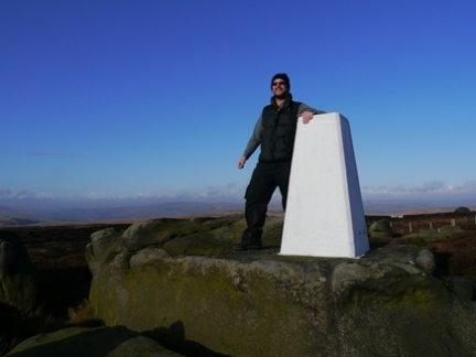 By the trig point on Little Holder Stones